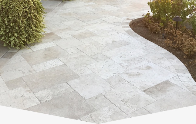 Travertine patio restoration, cleaning, and sealing in Peoria AZ