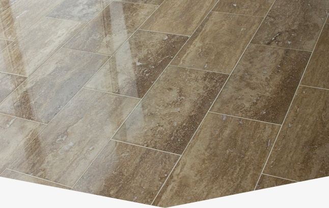 Arrowhead travertine tile and grout cleaning